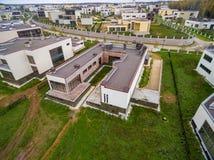 Moderne Landhäuser im Bau Lizenzfreie Stockbilder