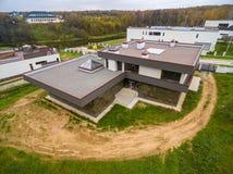 Moderne Landhäuser im Bau Lizenzfreies Stockbild