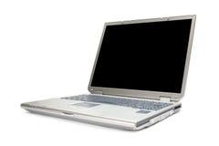 Moderne laptop die met het knippen van weg wordt geïsoleerdp Stock Foto