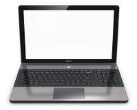Moderne laptop met het lege scherm Stock Afbeelding
