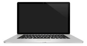 Moderne laptop op witte achtergrond Stock Foto's