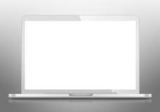 Moderne Laptop PC met het lege LCD scherm Stock Foto's