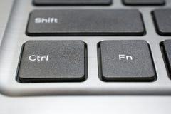 Moderne Laptoptastaturnahaufnahme Lizenzfreie Stockbilder