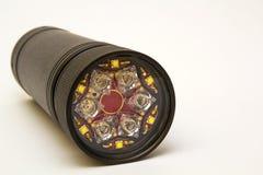 Moderne LED-Taschenlampe lokalisiert auf weißem Hintergrund Lizenzfreie Stockfotografie