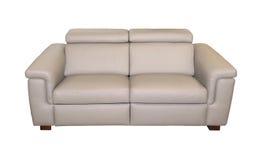 Moderne lederne Couch Stockfotografie
