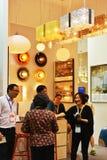 Moderne LEIDENE verlichting shopï ¼ die ŒIn Commerciële tentoonstelling, Guangdong, China aansteken Royalty-vrije Stock Foto