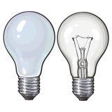Moderne Leuchtstoff, energiesparende und traditionelle tangsten Glühlampe vektor abbildung