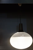 Moderne lichte inrichting op een zwarte achtergrond royalty-vrije stock afbeelding