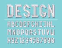 Moderne Linie Alphabet stockbild