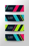 Moderne Linien Fahne Stockbilder