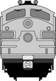Moderne locomotief stock illustratie