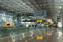 Moderne luchthaventerminal, de Luchthaven van Brussel, België Stock Afbeelding