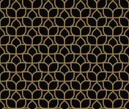Moderne Luxe geometrische ornamenten met achtergrond van lijnen de naadloze patronen royalty-vrije illustratie