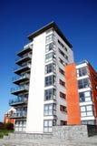 Moderne luxe vlakke flats stock foto