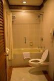 Moderne Luxusart verzierte Toilette lizenzfreies stockfoto