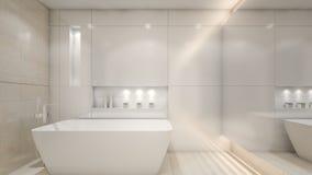 Moderne Luxuswiedergabe WC/3D Stockfotografie