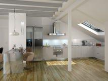 Moderne Luxuxküche Stockfotografie