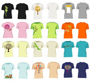 Moderne Männer und Frauent-shirts Stockfoto