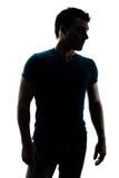 Moderne männliche Zahl im Schattenbild Stockbild