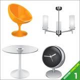 Moderne Möbel 1 Vektor Lizenzfreie Stockbilder