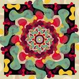 Moderne Mandala met Uitstekende Kleuren stock afbeelding