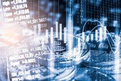 Moderne manier van uitwisseling Bitcoin is geschikte betaling in globaal royalty-vrije stock afbeelding