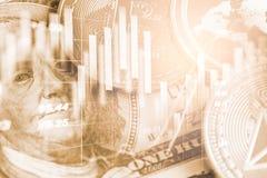Moderne manier van uitwisseling Bitcoin is geschikte betaling in globaal Stock Foto
