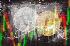 Moderne manier van uitwisseling Bitcoin is geschikte betaling in globaal Stock Fotografie