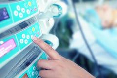 Moderne medische apparatuur in het ziekenhuis Stock Afbeelding