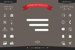 Moderne Menüikone für bewegliche apps und Website Lizenzfreies Stockbild