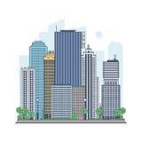 Moderne metropool stock illustratie