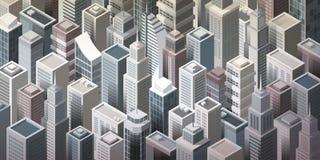 Moderne metropool royalty-vrije illustratie