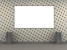 Moderne Metrostation mit weißer Fliesewand Lizenzfreies Stockbild
