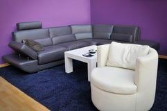 Moderne meubilair en lijst Royalty-vrije Stock Fotografie