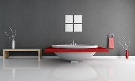 Moderne minimale badkamers Stock Fotografie