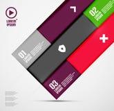 Moderne minimale infographics Royalty-vrije Stock Fotografie