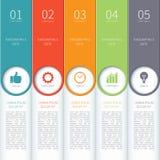Moderne minimale kleurrijke infographicselementen Stock Afbeelding