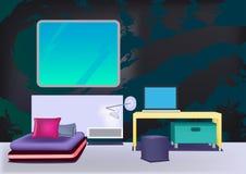 Moderne minimalistische bedroom_4 Stock Foto