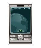 Moderne mobiele telefoon stock illustratie