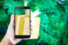 Moderne mobiele telefoon in de hand Royalty-vrije Stock Fotografie