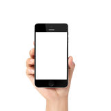 Moderne mobiele telefoon ter beschikking Stock Foto's