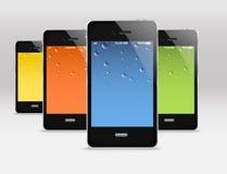 Moderne mobile Geräte stock abbildung