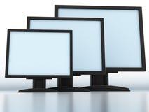 Moderne monitors Royalty-vrije Stock Afbeelding