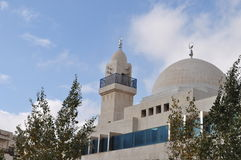 Moderne Moskee in Jordanië royalty-vrije stock foto's