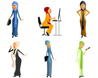 Moderne moslemische Mädchen Stockfotos