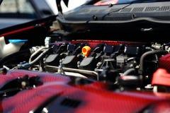 Moderne motor van een auto Royalty-vrije Stock Afbeeldingen