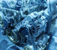 Moderne motor van een auto royalty-vrije stock afbeelding