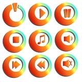Moderne Musik knöpft Sammlung Lizenzfreies Stockfoto