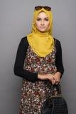 Moderne muslimah Frau Stockfoto