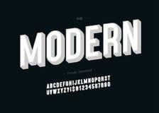 Moderne mutige Typografie des Schriftbildes 3d des Vektors Lizenzfreie Abbildung